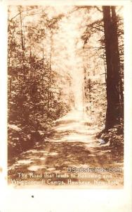 Road that Leads to Kokosing and Whippoorwill Camps Hawkeye NY 1935