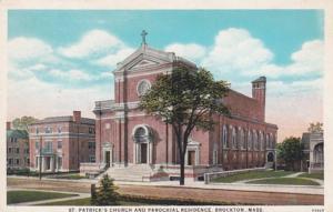 Massachusetts Brockton St Patrick's Church and Parochial Residence Curteich
