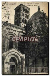 Old Postcard Angouleme Cathedrale Saint Pierre Entrance of the Sacristy