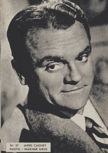 James Cagney Belgium 1950s Postcard Size Film Actor Card