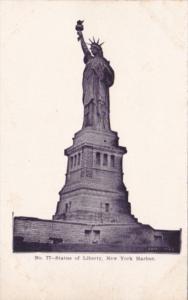 New York Harbor Statue Of Liberty 1908