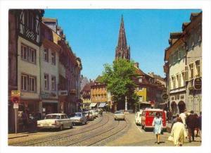 Oberlinden Mit Munster, Freiburg Im Breisgau, Baden-Württemberg, Germany 195...