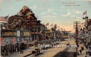 Amusement Park Postcard Post Card Coney Island, New York, NY, USA Amusement P...