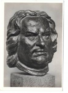 RPPC Bust J S Bach Haffenrichter Sculpture Film Foto Verlag 4X6 Art Postcard