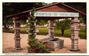 Florida St Augustine The Fountain Of Youth Curteich