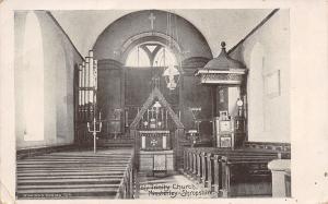 Minsterley Shropshire UK~Interior of the Holy Trinity Church~B&W c1910 Postcard