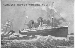 Campagnie Generale Transatlantique French Line Ship Unused