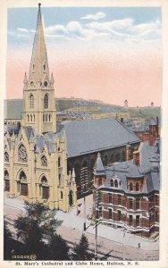 HALIFAX, Nova Scotia, Canada, 1910-20s; St. Mary's Cathedral and Glebe House