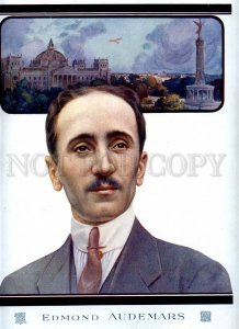 231414 FRANCE history of aviation Edmond Audemars Vintage poster
