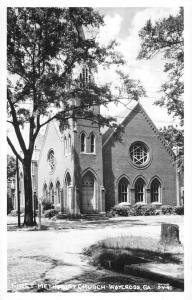 Waycross Georgia First Methodist Church Real Photo Antique Postcard K11113