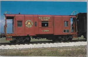 FLORIDA GULF COAST, BALTIMORE & OHIO RAILROAD CABOOSE #C2819