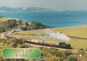 Trojan 4588 GWR Train Paignton & Dartmouth Steam Railway Postcard