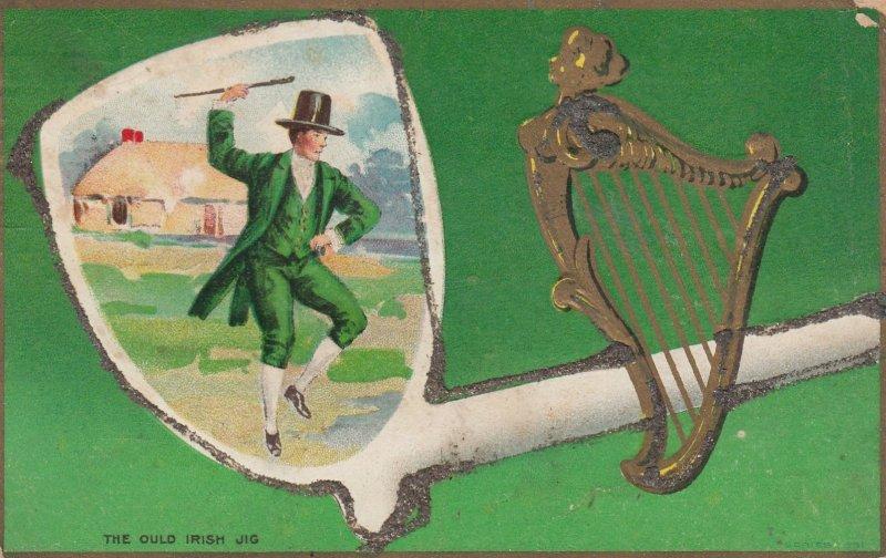 SAINT-PATRICK's DAY , Harp ,Pipe & Man Dancing , 00-10s