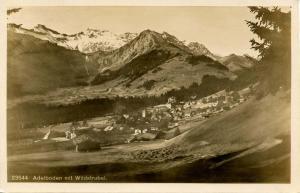 Switzerland -  Adeboden mit Wildstrubel - RPPC