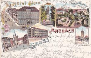 Gruss aus Ansback (Hotel Stern) , Bavaria , Germany , PU-1900