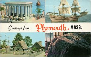 Greetings from Plymouth, Mass first house, mayflower plymouth rock massachusetts