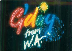 Western Australia G`day fireworks postcard