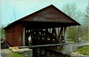 Postcard~Duck Creek Aqueduct~Metamora, Indiana~White Water Canal~A16
