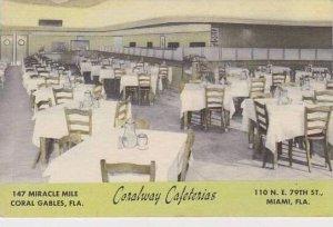 Florida Miami Coral Gables Coralway  Cafeterias