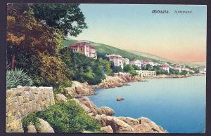 Abbazia Sudstrand Coastal view Croatia used c1910's