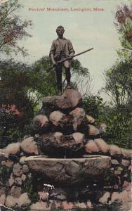 Massachusetts Lexington Patriots Monument 1911