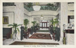 PHILADELPHIA, Pennsylvania, 1900-10s; Entrance to Lobby, Hotel Vendig