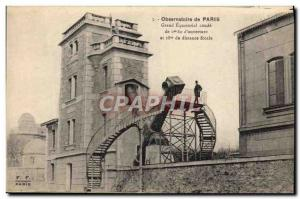 Old Postcard Astronomy Observatory Paris Grand Equatorial elbow