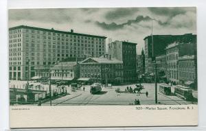 Market Square Providence Rhode Island 1907c postcard