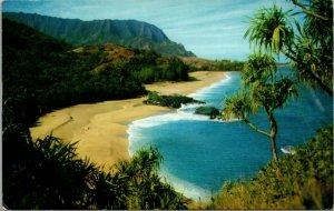 Lumahai Beach Kauai Hawaii Vintage Postcard Lumaha'i VINTAGE COLOR