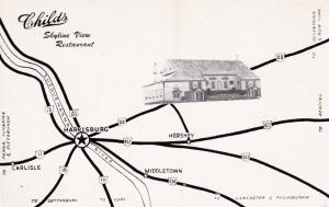 HARRISBURG , Pennsylvania , 50-60s ; Childs Skyline View Restaurant