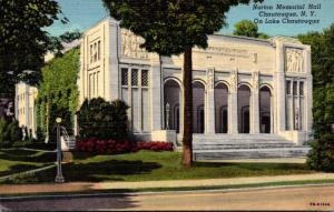 New York Chautauqua Norton Memorial Hall On Lake Chautauqua 1954 Curteich