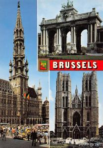 Belgium Greetings from Brussels multiviews Cathedrale Dom Rathaus
