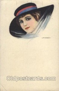 Series no. 21-2 Artist Signed Giovanni Nanni (Italy) 1917 crease left bottom ...