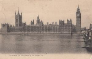 United Kingdom, London, The Houses of Parliament, 1909 used Postcard