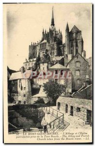 Old Postcard Mont Saint Michel L & # & # 39Abbaye And 39Eglise