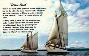 Maine Down East Windjammers Off The Maine Coast