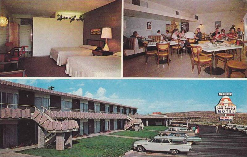 #1, Multi-View of Lake Powell Motel, Arizona, 40-60s