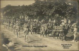German Military Parade Bayr Bayern Lantages 1907 Publ in Munchen RPPC