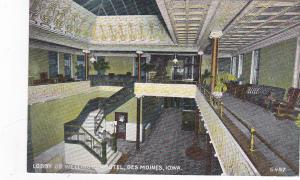 DES MOINES , Iowa, 00-10s ; Lobby of Wellington Hotel