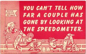 You can't tell how far couple has gone by looking at Speedometer Humor Comic