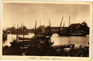VIETNAM INDOCHINE - Saigon - Arroyo chinois - Jonques de mer (190317)