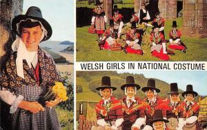 Wales Welsh Girls in National Costumes
