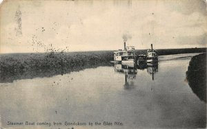 Sudan Steamer Boat coming from Gondokoro by the Blue Nile postcard