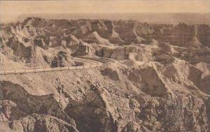 South Dakota Wall East Side Of Pinnacles Badlands National Monument Albertype