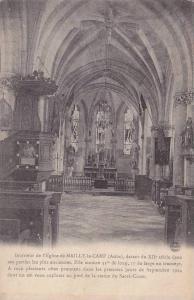 Interieur De l'Eglise De Mailly-le-Camp (Aube), France, 1900-1910s