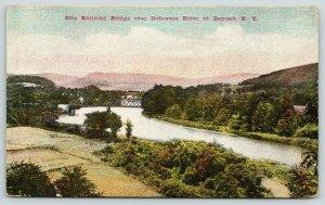 Deposit New York~Erie Railroad Bridge over Delaware River~JM Briggs~1910 PC