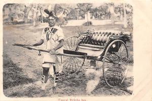 South Africa Typical Ricksha boy, Rickshaw, Auto Vehicle