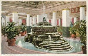 CHICAGO , Illinois , 1900-10s ; Fountain in Pompeiian Room, Auditorium Annex