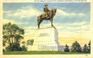 Oliver Otis Howards monument - Gettysburg, Pennsylvania
