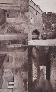 Bloody Tower Of London 4x Antique Gale & Polden Postcard s